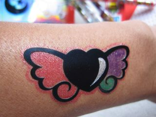 Tattoo Temporary Washable Colour Pens Glitter Drawing