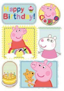 Peppa Pig Happy Birthday Card with Badge