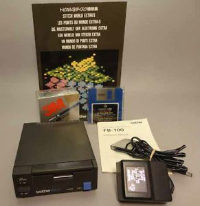 Brother FB 100 3 5 inch Micro Floppy Disk Drive Plus EXTRAS for Machine Knitting
