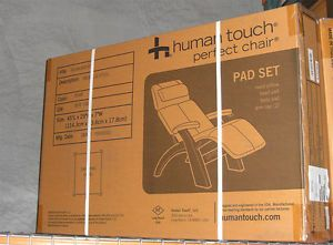 New Perfect Chair Zero Anti Gravity Recliner Pad Set Only Ivory Leather Defect