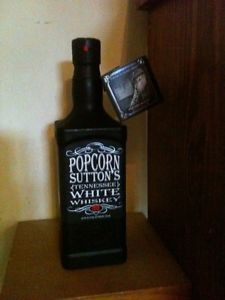 "Popcorn Sutton Tennessee White Whiskey 750ml All New Black Bottle ""Empty"""