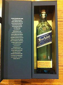 RARE Collectible Johnny Walker Blue Label 750ml Bottle Top Box Empty