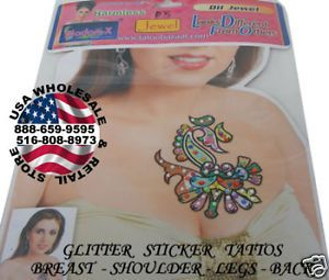 Temporary Glitter Tattoos Belly Breast Back Cleavage D3