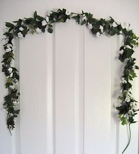 6' Artificial Mini Rose Garlands Silk Flowers Home Decor Plant Peach White New