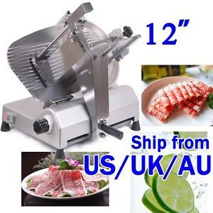 "12"" Blade Food Preparation Commercial Meat Slicer Stainless Steel Electric D1"