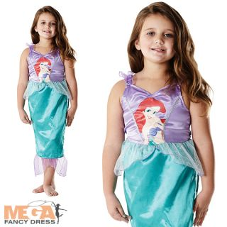 Ariel Little Mermaid Girl's Classic Disney Kids Fancy Dress Child Costume Outfit
