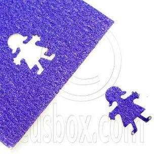 Girl Child Scrapbooking Paper Prints Craft Punch Scrap Book Booking Die Cut 1cm