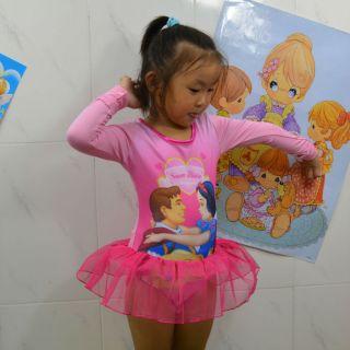 New Disney Snow White Girls Fairy Ballet Dance Loetard Costume Dress Tutu Sz3 7Y