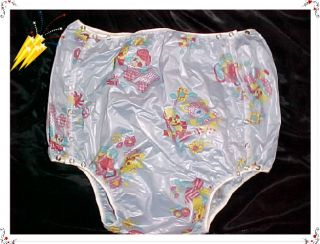 1 Adult Baby Very Crinkly Diapers Dress Plastic Pants M 26 32W Rustle Noisy
