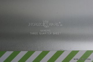 Nordic Ware Jumbo Big High Sheet Cake Pan Bakers Three Quarters Sheet 21x15