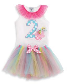Mud Pie Birthday Wishes 2nd Birthday Party I'M 2 Chiffon Tutu Dress Set 2T