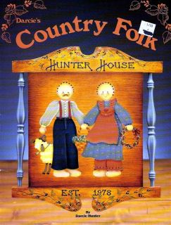 Tole Painting Pattern Book Country Folk Darcie Hunter