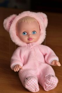 "Lauer Water Baby 10"" Blue Eyes Pink Bear Outfit"