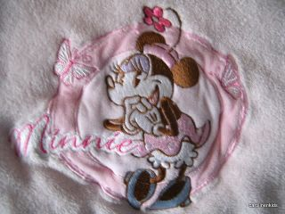Pink Minnie Mouse Disney Plush Baby Girl Boa Security Blanket