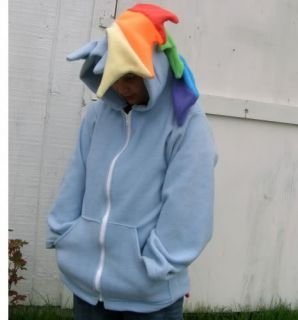 Deluxe My Little Pony Custom Plush Hoodie Jacket Rainbow Dash MLP FIM Cosplay