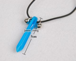 Fourth Hokage Uzumaki Naruto Tsunade Pendant Necklace Blue 1