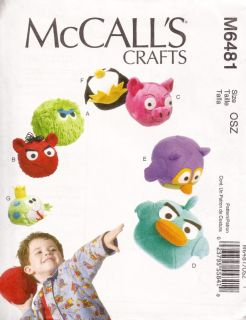 M6481 McCall's Crafts Stuffed Toys Pattern Free US SHIP