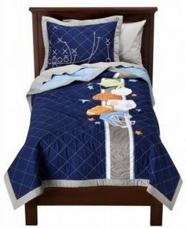 Circo Sports Collection Embroidered Full Queen Quilt Shams Set Balls Comforter