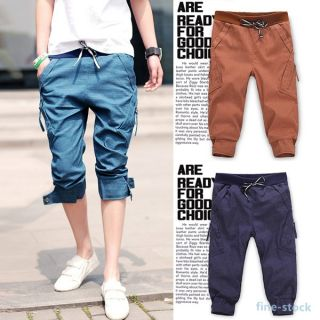 Vintage Pants Jeans Men Slim Fit Skinny Trousers Short Pants Pencil Solid Shorts