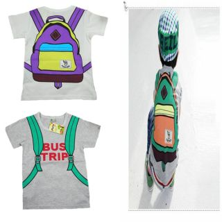 "New Baby Boys Girls Tops T Shirts Kids T Shirt ""School Bag"" Cute Pattern"