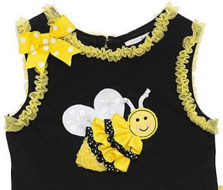 New Baby Girls RARE Editions Sz 18M Bumble Bee Tutu Outfit Dress Clothes Pageant