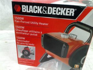 Black Decker 1500 Watt Utility Ceramic Blow Fan Heater