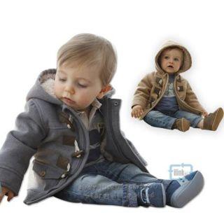 Toddler Baby Boys Newborn Winter Hoodies Horn Button Coat Outerwear Size 12M 36M