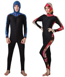 Men's Women's Full Scuba Snorkeling Suit Wet Suit Diving Suit with Hood s 4XL