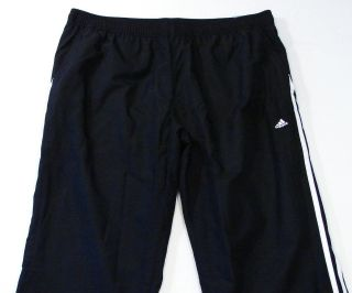 Adidas Signature Mesh Lined Black Wind Track Pants