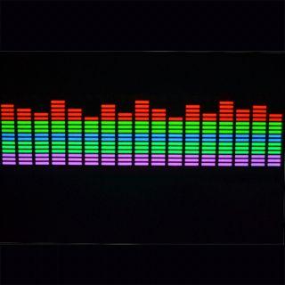 Flash Car Sticker Music Rhythm LED El Light Lamp Sound Activated Equalizer