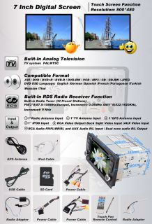 Audi A3 2 DIN Car DVD Player GPS Navigation Radio TV Touch Screen  iPod E8010