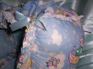 Custom Made Adult Sissy Baby Waddle Diaper Panty Blue Moon Print Mens Womens