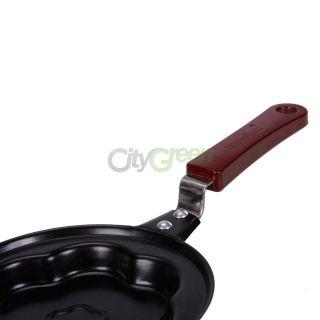 Kitchen Pancake Stainless Steel Plum Flower Shaped Cook Fried Egg Pot Fry Pan