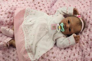 "Layaway Lifelike Reborn Vinyl Doll Daisy by Adrie Stoete 20"" Newborn Baby Girl"