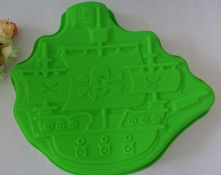1pcs A Pirate Boat Mold Silicone Mold Cake Mold Cake Tools Baking Tools