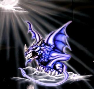 Gargoyle 5 Airbrush Stencil Air Brush Template