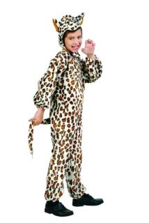 Leopard Child Costume Cat Cheetah Plush Jungle Zoo Animal Kids Jumpsuit 70073