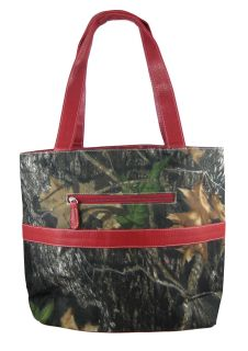 Camouflage Diaper Bag Changing Pad Red Trim Baby