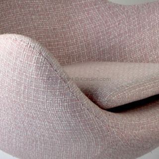 Egg Chair Ottoman Candy Striper Retrospeck Twill Modern Lounge Sofa Swan Womb