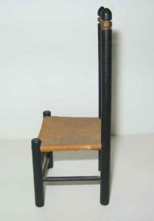 Wonderful Doll House Miniature Ladderback Chair Tole Painted Design Rush Seat