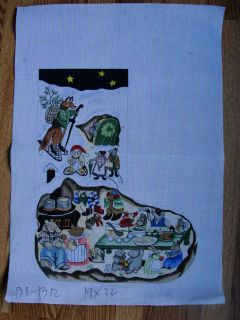Barbara Eyre Christmas Party Holiday Needlepoint Stocking BE1312
