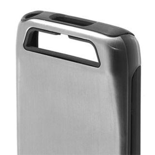 Incipio Silicrylic Dualpro Shine Case for Motorola Atrix HD Silver Black Cover