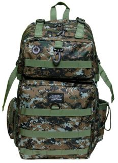 Green Brown Digital Camo Backpack Big Hunting Day Pack DP321 Camping Tactical
