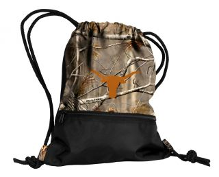 Texas Longhorns NCAA Realtree Camo Draw String Back Pack Tote Bag