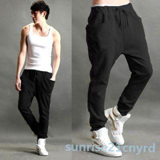 Loose Mens Harem Pants Slacks Boys Skinny Pencil Sports Gym Baggy Trousers Hot