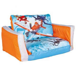 Worlds Apart Childrens Kids Disney Planes Inflatable Flip Out Sofa Lounger Chair