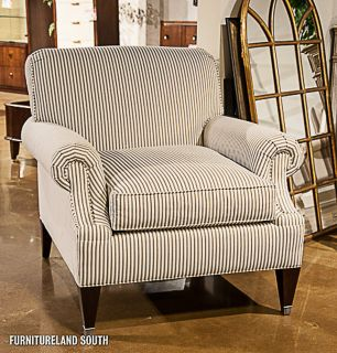 Drexel Heritage Furnishings Mackenzie Striped English Tudor Arm Chair