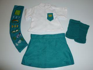 "Fits 18"" Doll Clothes Junior Girl Scout Uniform Outfit 4 PC Set"