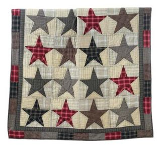 "America Stars Quilt Pattern Shower Curtain 72"" x 72"""