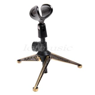 20pcs Microphone Desktop Table Tripod Mic Stand Holder Adjustable New